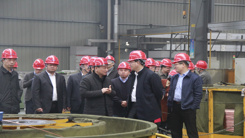Deputy Secretary of Shaoxing Municipal Party Committee and Acting Mayor Yuechun Sheng and Staff Visit Hailiang Stock for Research and Guidance