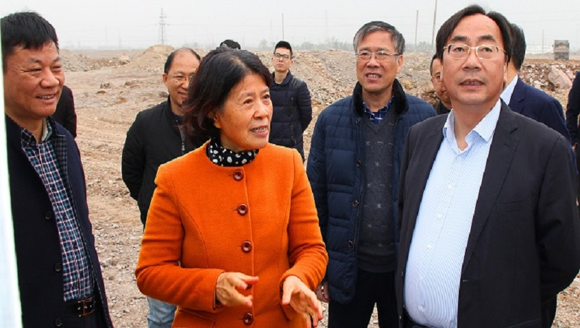 Ma Weiguang -- Secretary of the CPC Shaoxing Municipal Committee and his Group Visit Hailiang's Project of Building a Non-ferrous Smart Manufacturing Industrial Park